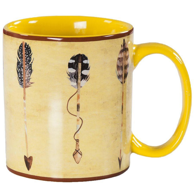 Large Arrow 4-PC Coffee Mug Set