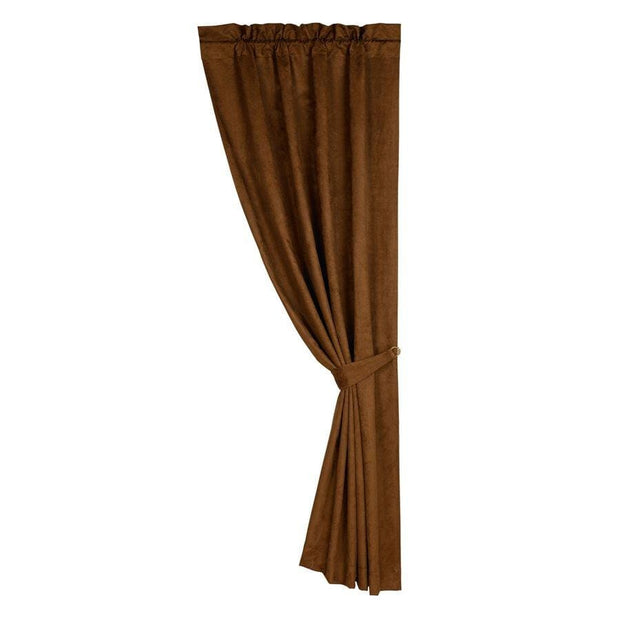 Las Cruces Copper Faux Suede Single Panel Curtain
