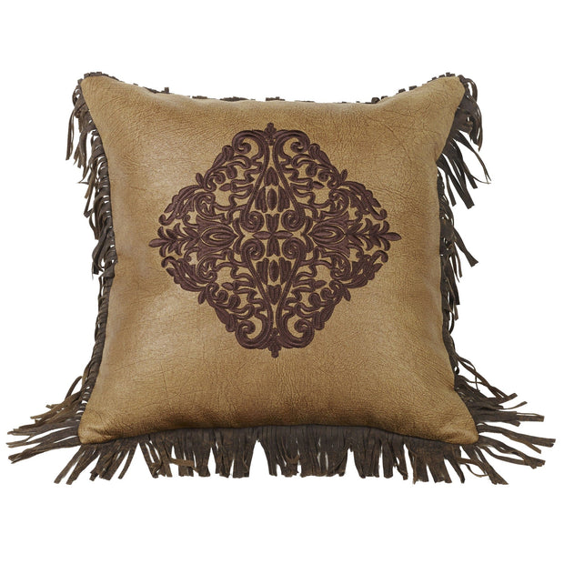Las Cruces Embroidered Damask Toss Pillow