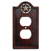 Leather Grain Single Outlet Cover Wall Plate