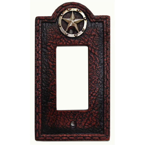 Leather Grain Single Rocker Wall Switch Plate