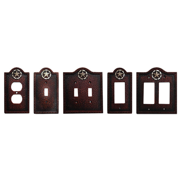 Leather Grain Single Switch Wall Plate