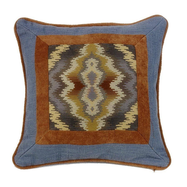 Lexington Southwest Diamond Throw Pillow - Blue, Tan & Copper