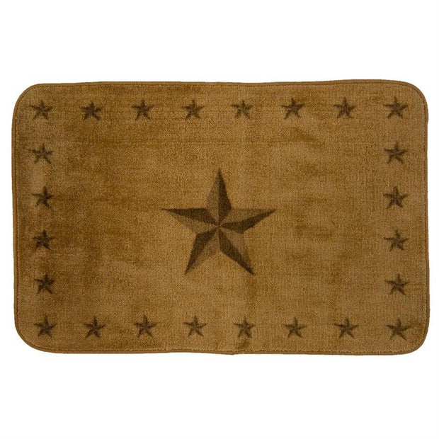 Light Chocolate Star Kitchen/Bath Rug