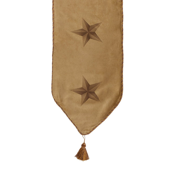 Luxury Star Light Tan Table Runner, 16x108