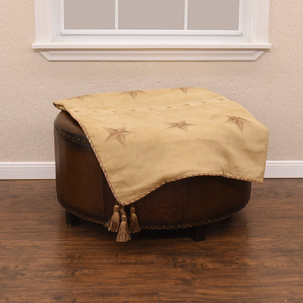 Light Tan Western Star Throw Blanket, 50x60