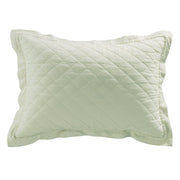 Linen & Cotton Quilted Pillow Sham , Standard/King, 6 Colors