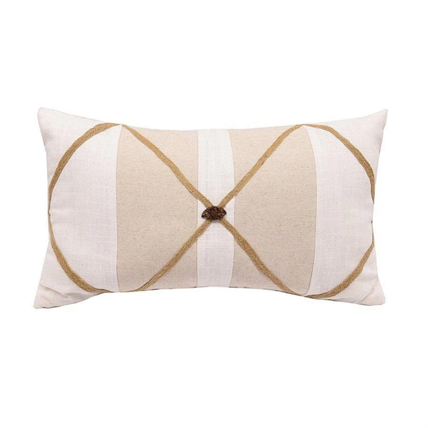 Linen Lumbar Pillow w/ Button