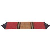 Bayfield Rustic Table Runner, Burgundy w/ Houndstooth