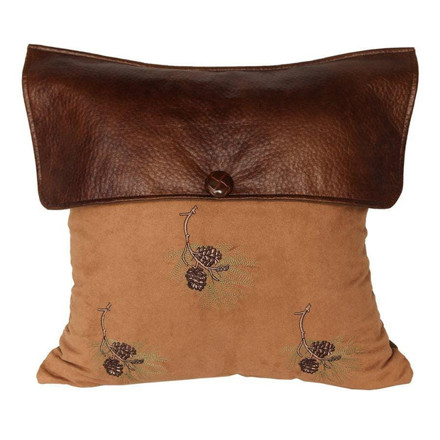 "Lodge-Style Pine Cone Envelope Pillow , 18"" x 18"""