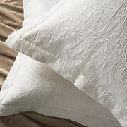 Matelasse Euro Sham w/ Woven Design - 2 Colors