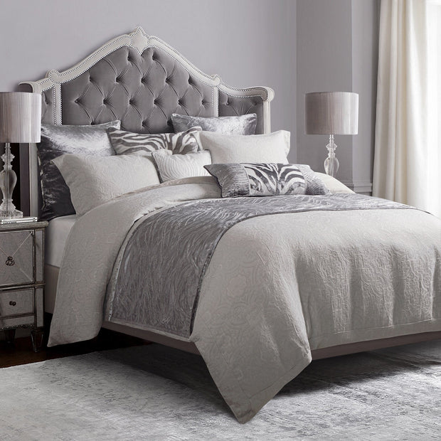 Matelasse Gray Coverlet Set (Queen/King)