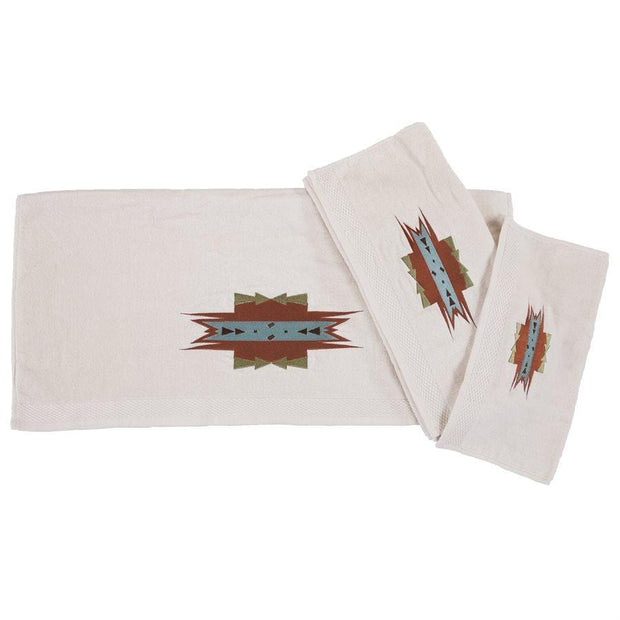 Mesa Southwestern 3-PC Bath Towel Set, Cream