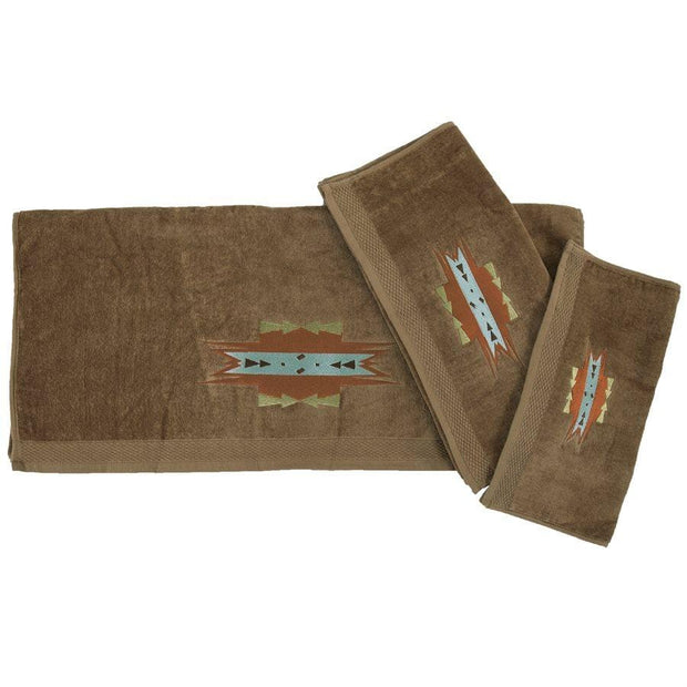 Mesa Southwestern 3-PC Bath Towel Set, Mocha