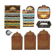 Mesa Southwest Print and Savannah Mustard Canister 22 PC Set