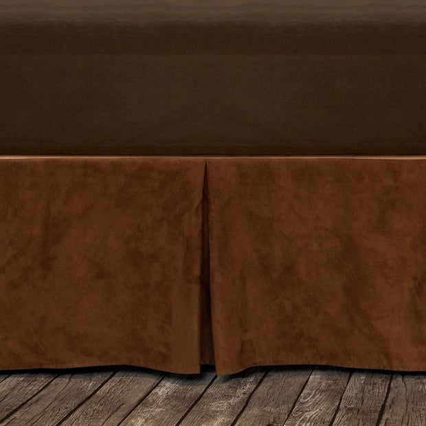 "Microfiber Suede Bedskirt, Copper (16""/18"" Drop)-Bed Skirt-HiEnd Accents"