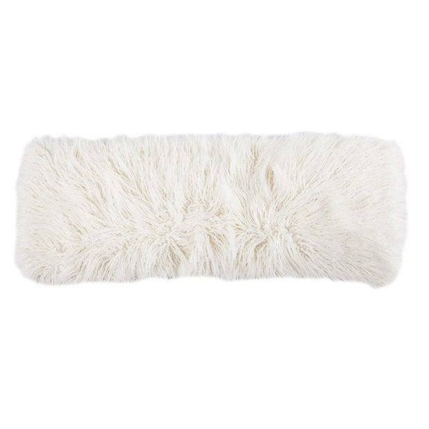 Mongolian Faux Fur Lumbar Pillow (3 Colors)