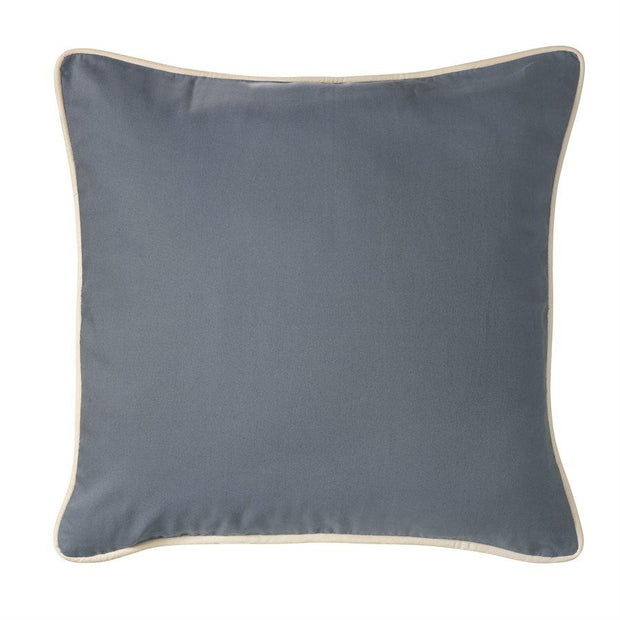 Monterrey Light Indigo Blue Euro Sham w/ White Piping