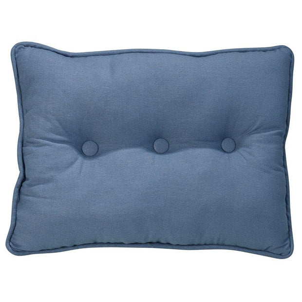 Monterrey Tufted Box Pillow, Blue Linen