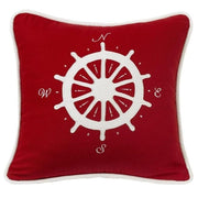 Nautical-Style Compass Accent Pillow