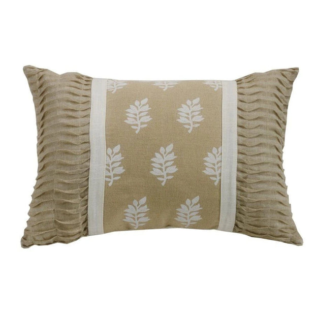 Newport Oblong Pillow w/ Ruching Ends