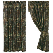 Oak Camo Brown & Green Curtain (PAIR) w/ Valance