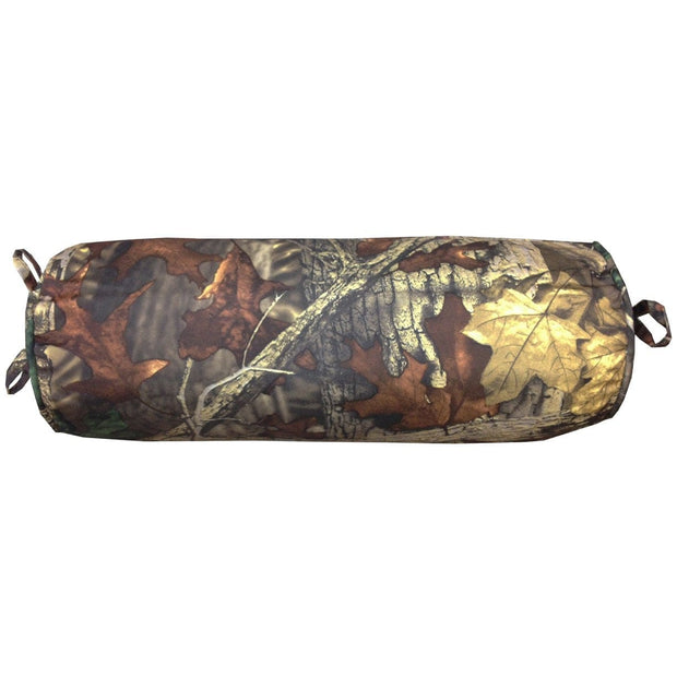Oak Camo Neckroll Pillow, Woodland Brown & Green