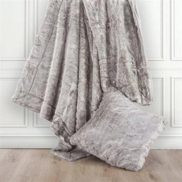 Oversized Arctic Bear Throw, Gray, 50x80