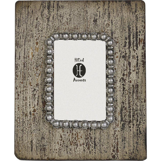 Pearl Distressed Wood Picture Frame, 4x6