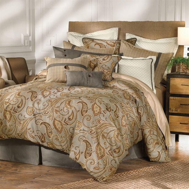 Piedmont 4-PC Paisley Comforter Set, Gray & Gold