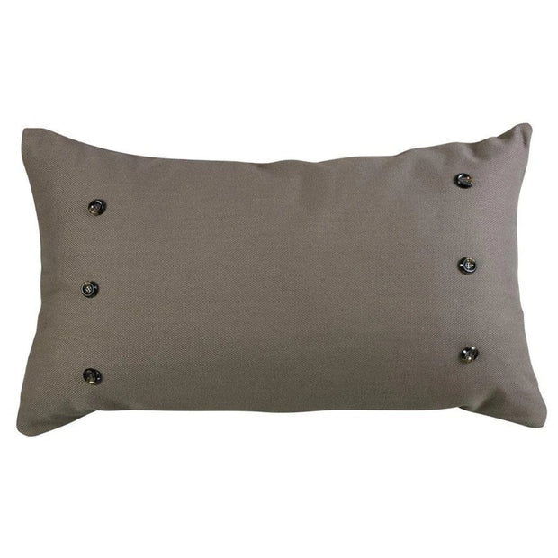 Piedmont Large Taupe/Gray Lumbar Pillow