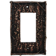 Pine Bark Single Rocker Wall Switch Plate