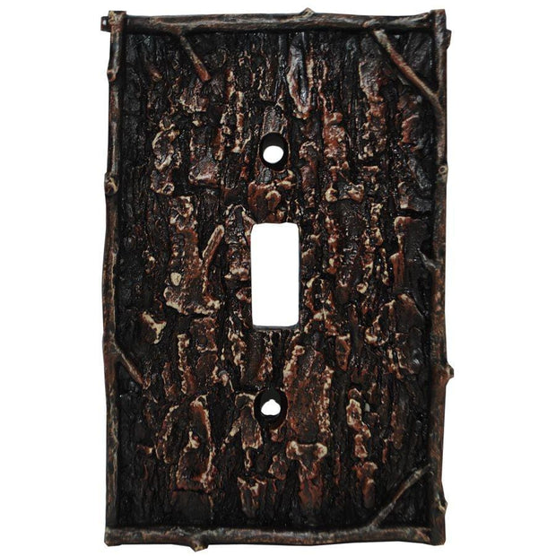 Pine Bark Single Switch Wall Plate