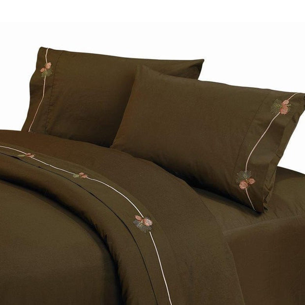 Pine Cone 3-PC Sheet Set, 350 Thread Count, Twin