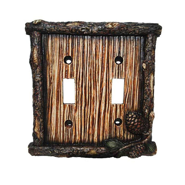 Pine Cone Double Switch Wall Plate