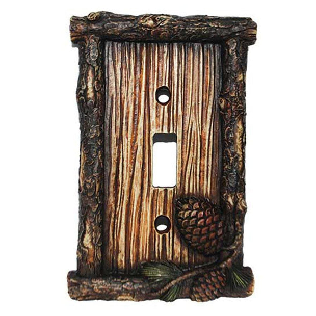 Pine Cone Single Switch Wall Plate