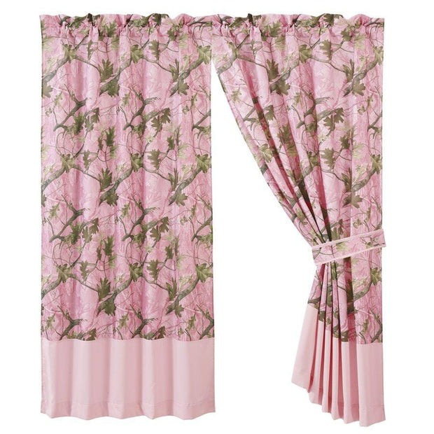 Pink Oak Camo Curtain, 60x84