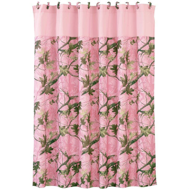 Pink Oak Camo Shower Curtain, 72x72