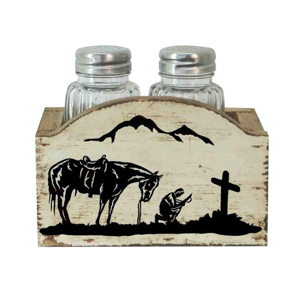 Praying Cowboy Salt & Pepper Shaker Set