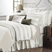 Prescott 3PC Duvet Cover Set, Taupe (Super King/Queen)