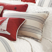 Prescott Striped Cottage-Style Pillow Sham - 3 Colors (PAIR)