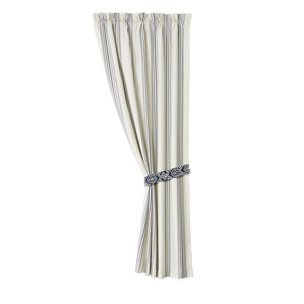 Prescott White & Navy Striped Curtain (PAIR)