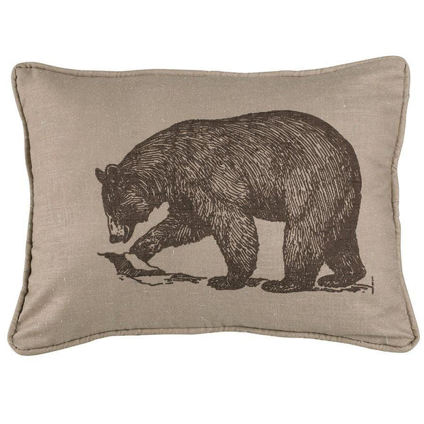 Printed Walking Bear Oblong Accent Pillow