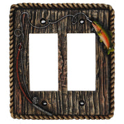 Rainbow Trout Double Rocker Wall Switch Plate