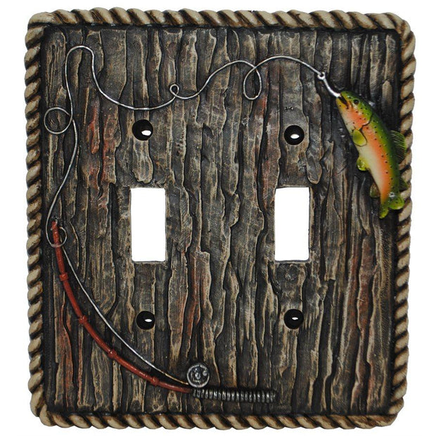 Rainbow Trout Double Switch Wall Plate
