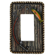 Rainbow Trout Single Rocker Wall Switch Plate