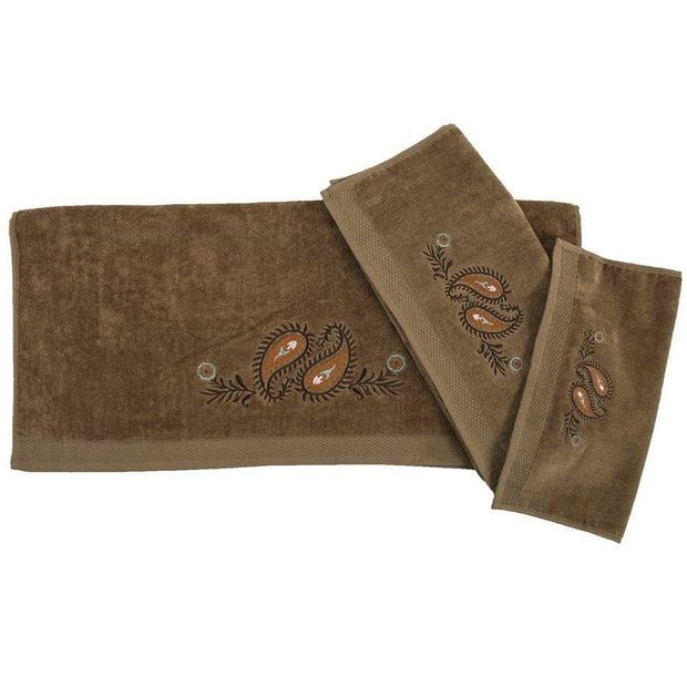 Rebecca Western Paisley 3-PC Bath Towel Set, Mocha