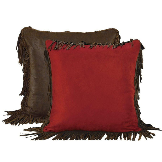 Red Rodeo Chocolate & Red Suede Euro Sham