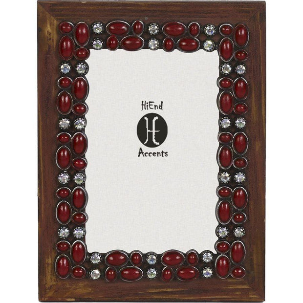 Red Stone Wooden Picture Frame, 4x6