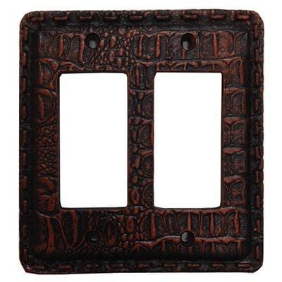Resin Gator Double Rocker Wall Switch Plate